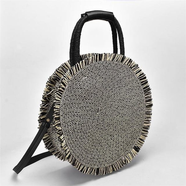 New Tassel Handbag High quality Round Straw Bag Bags