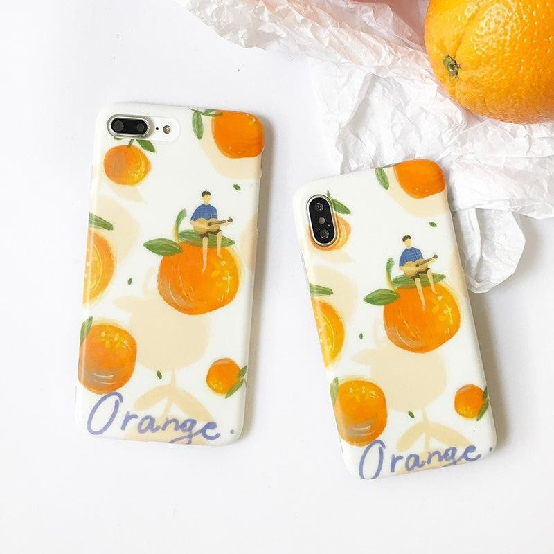 Phone Case iphone Fruit Orange Pattern Cover Cases