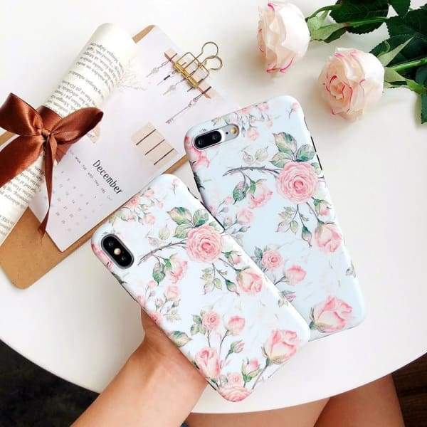 Pink Daisy Floral Painted iPhone Case Phone Cases