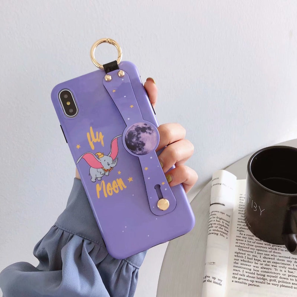 Dumbo Elephant Cartoon Cute Cases Wrist Strap Case for iPhone 6