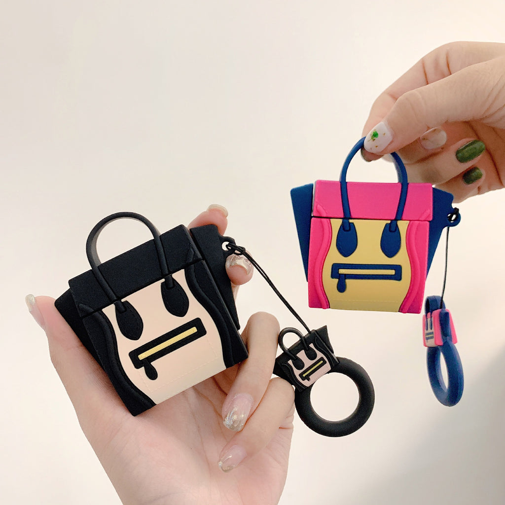 Cute Cartoon AirPods Case Silicone 3D Handbag Earphone Case