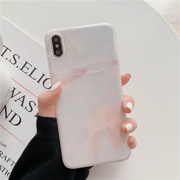 Smooth Jade Marble Phone Case For iphone X XS Max XR 6 6s 7 8 Plus