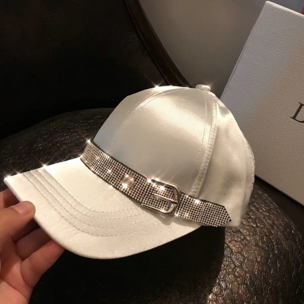 New Women Satin Ribbon Cap Trend Girl Leisure Baseball Hat