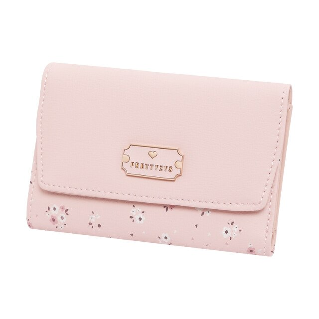Short Women Wallet Multifunction Floral Coin Purse Card Holder