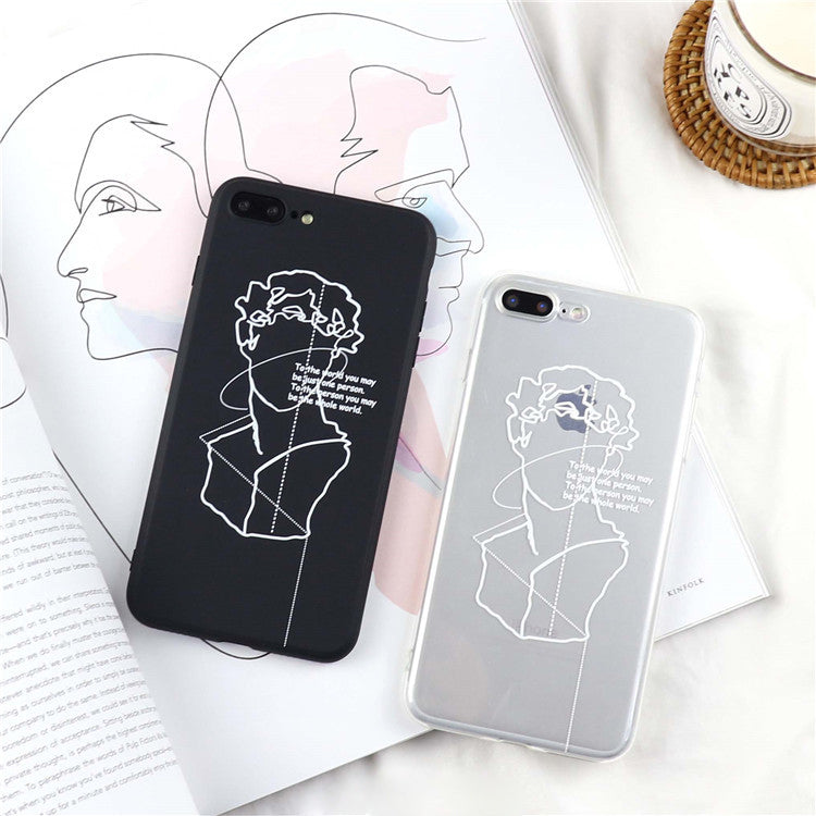 Abstract Art Lines David Print Phone Case iphone Fashion Couples Case