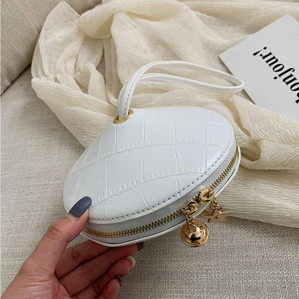 Fashion Circular Handbags Small Round Purses  Brand Phone Bag Clutch