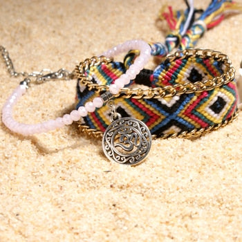 Handmade Bohemian Charm Anklets Crystal Bead Beach Foot Jewelry