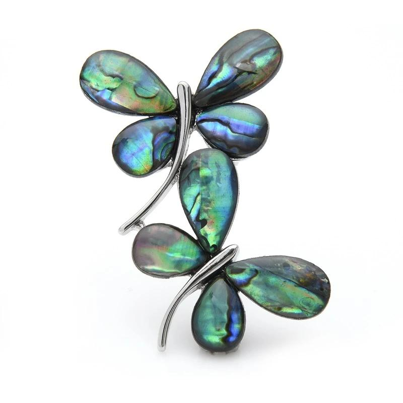Blue Abalone Shell Butterfly Brooches Insect Brooch Pins