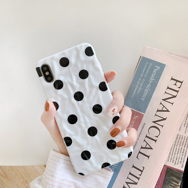 Cute Polka dot  Smooth Soft Phone Case For iphone 11/11Pro/ 11Pro Max