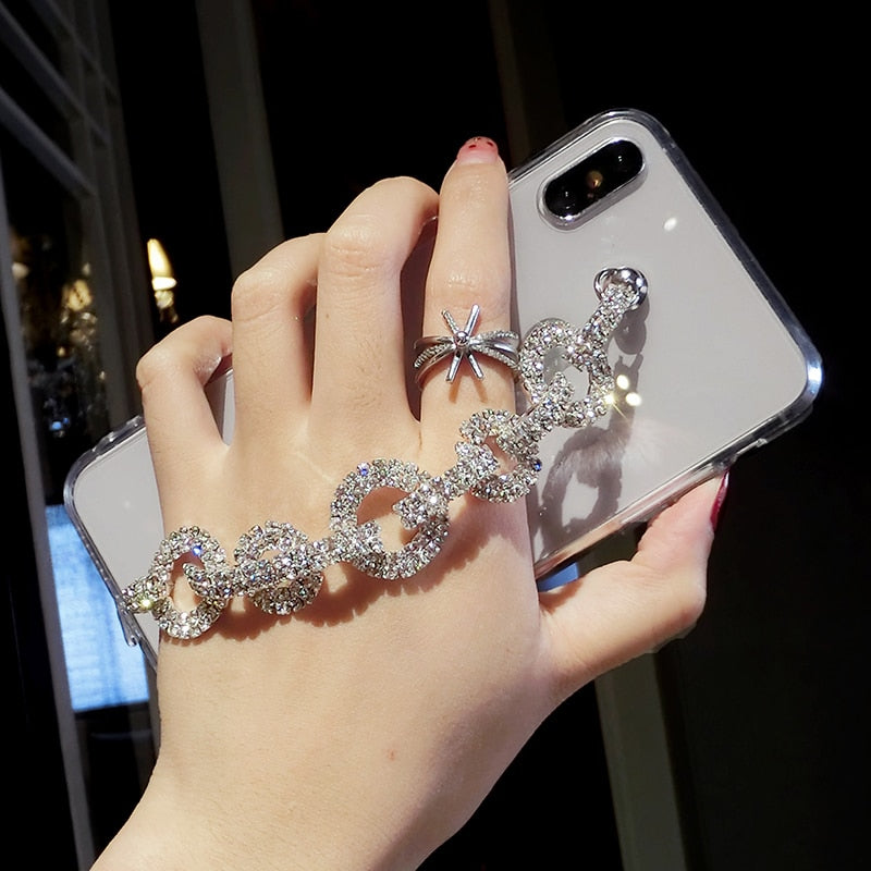 Bling Rhinestone Diamond Bracelet Chain Case Samsung Galaxy