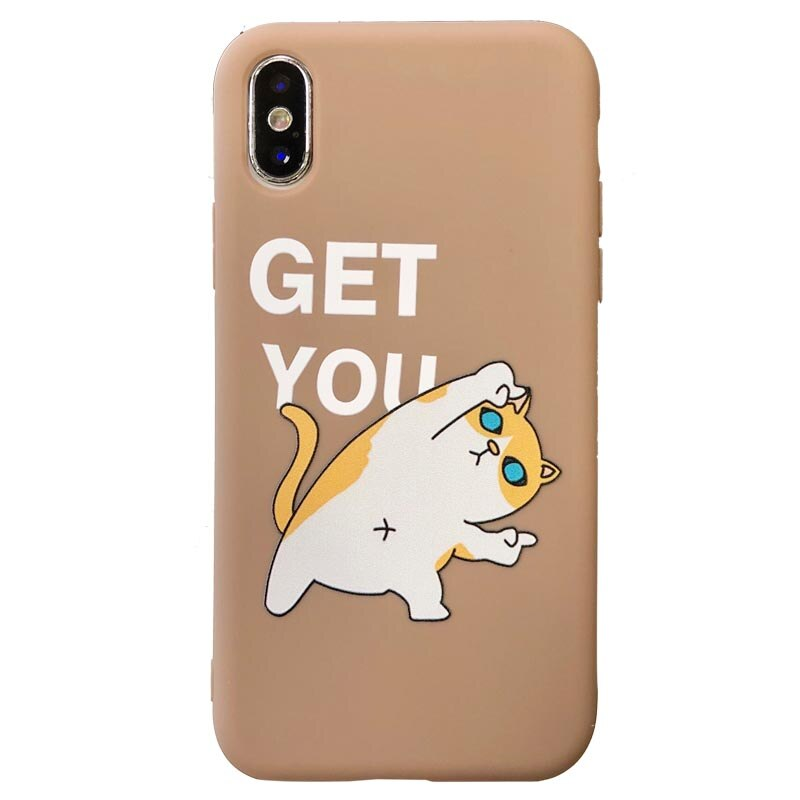 Cute Couple Cat and Dog Cartoon iPhone Case