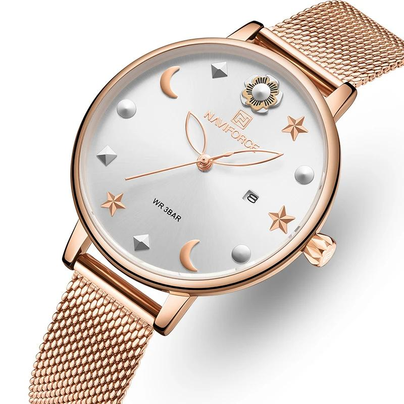NEW Luxury Rose Gold Quartz Women Watches Star Sky Design Wristwatch