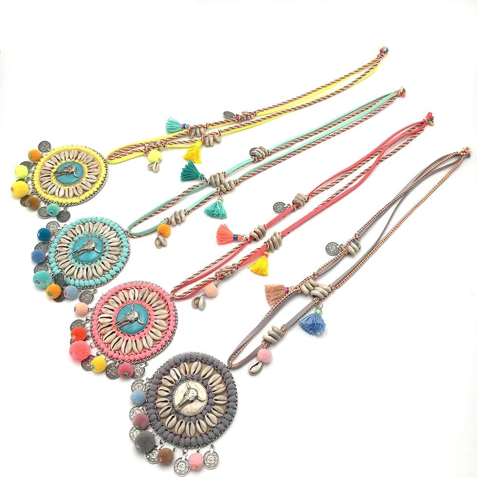 Fashion Vintage Ethnic Style Bohemia Silver Statement Necklace