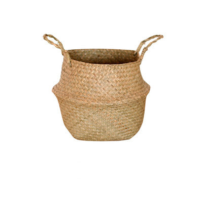 Handmade Bamboo Storage Baskets Straw Wicker Flower Pot