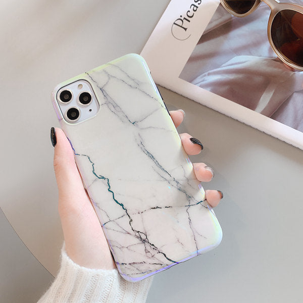 Laser Aurora Marble Case Holographic iPhone Cases