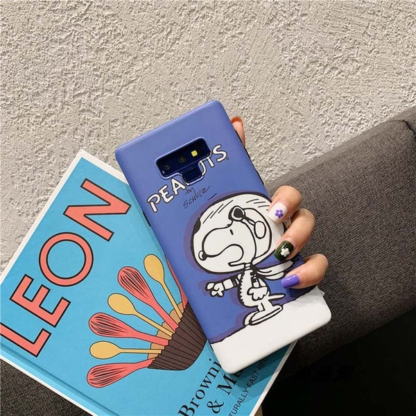 Cute Pet Dog Phone Cover Samsung Galaxy S10 S9 Plus Funny Peanuts Case