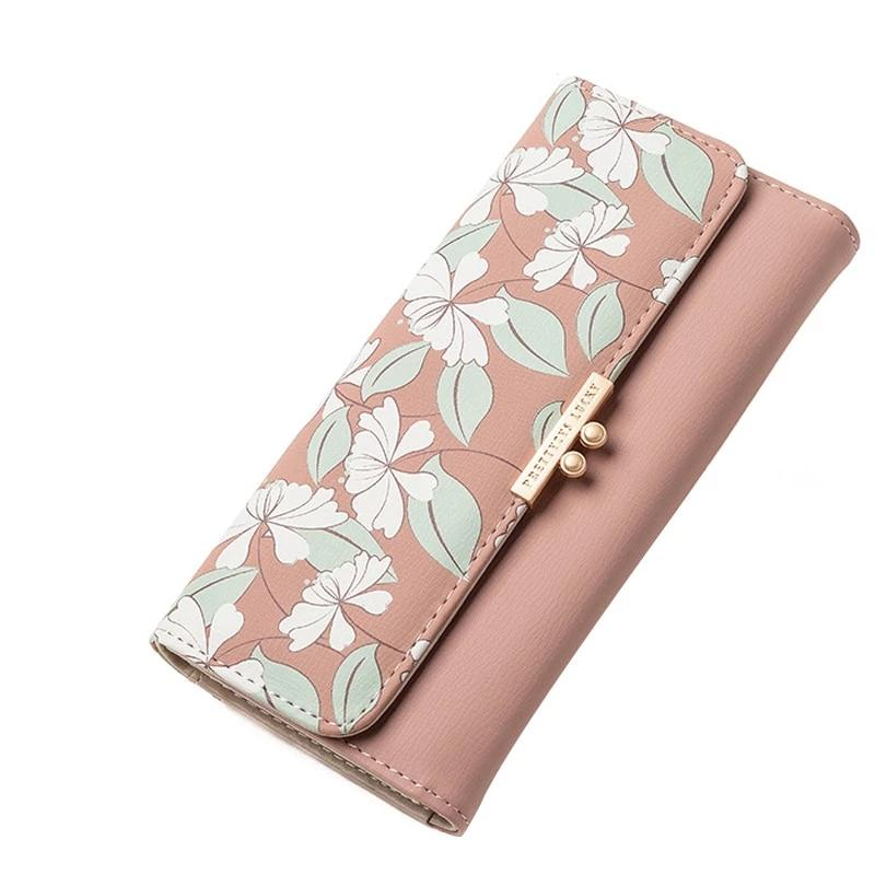 Sweet Fashion Floral Printing Women's Long Wallet