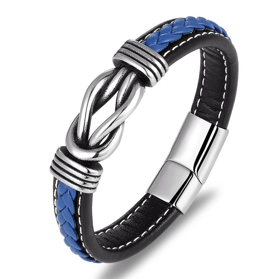 Deluxe Irregular Graphic Accessories Men's Leather Bracelets