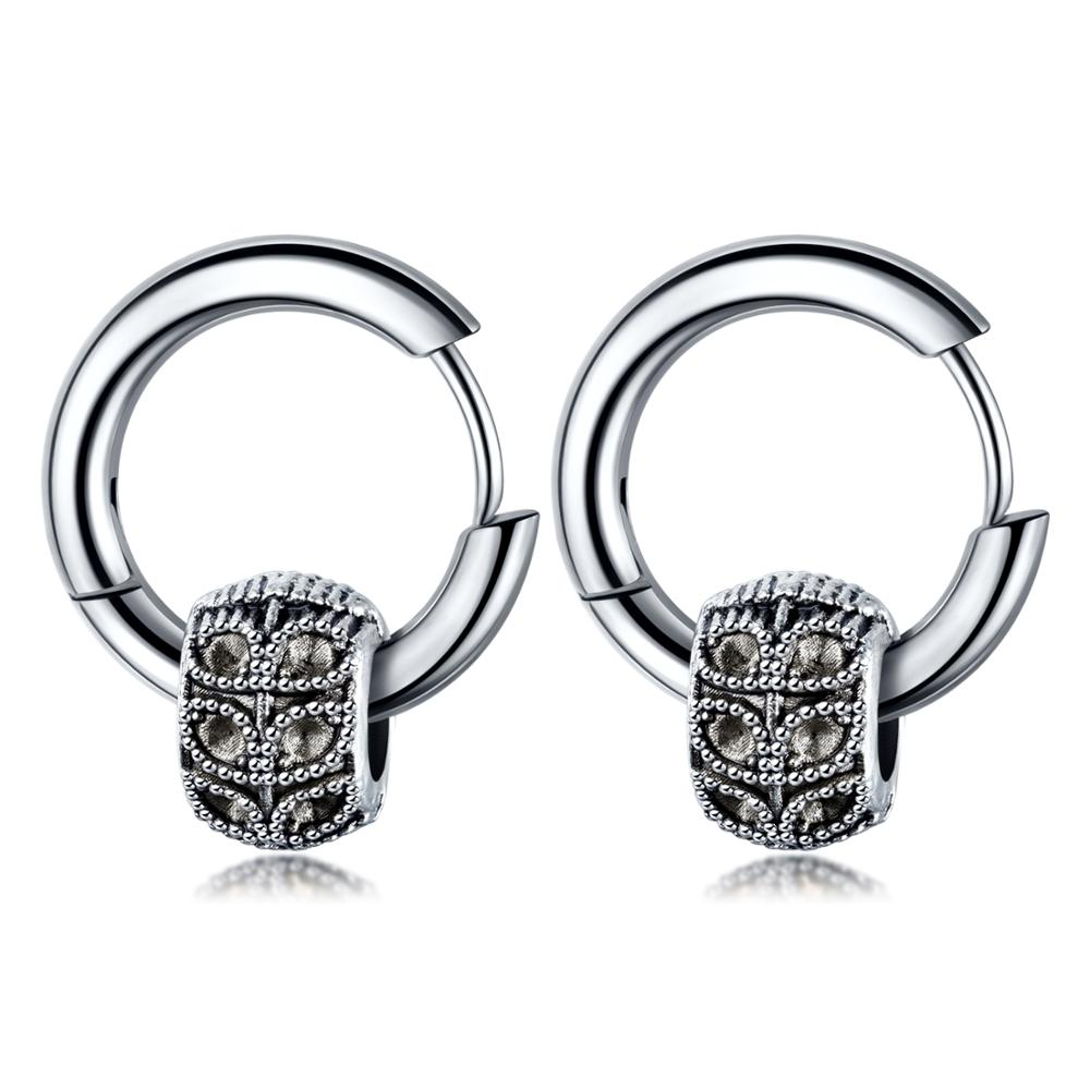 Japanese and Korean personality simple tide men stainless steel earrings Earrings LABONNI