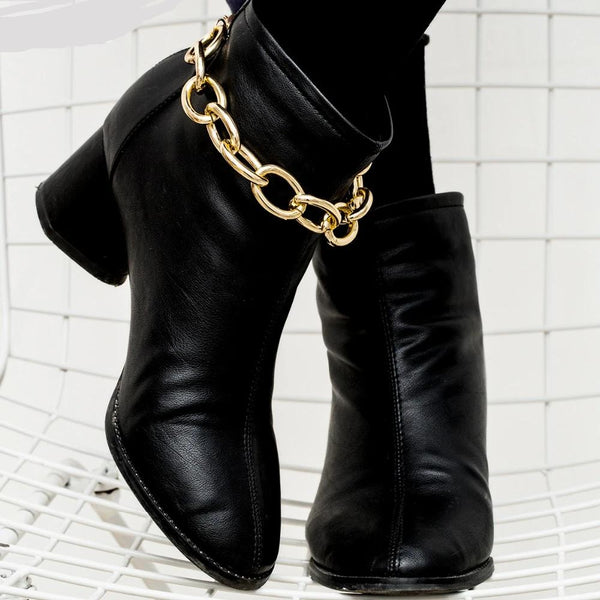 Western Boot Chains Bling Bracelet Punk Fancy Charm Shoe Anklet