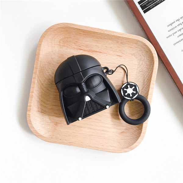 Star Wars Yoda 3D Airpods Case Earphones Protect Cover Green