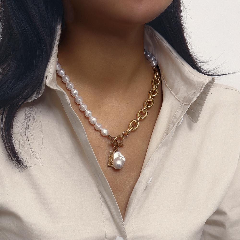 Korean Fashion Imitation Pearl Choker Necklace for Women