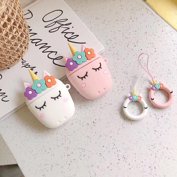 Unicorn Earphone Case Cartoon Design Cute Airpods Case