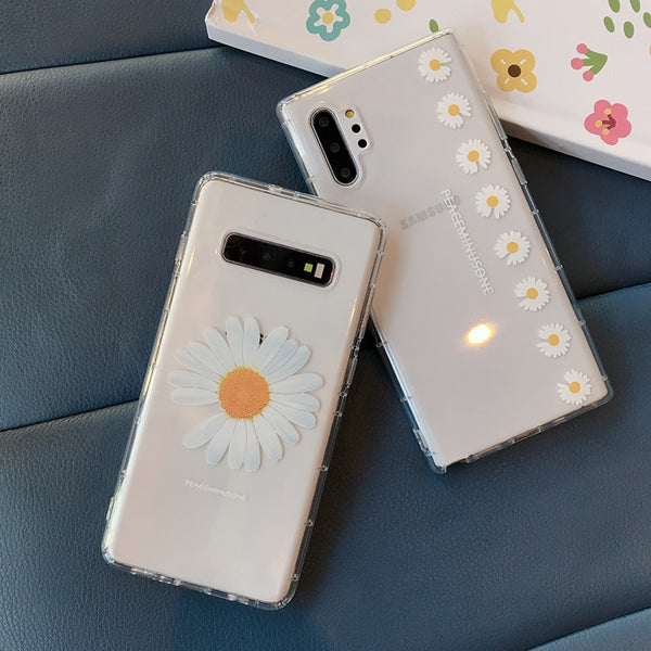 Chrysanthemum Crystal Clear Soft Cases For Samsung S10