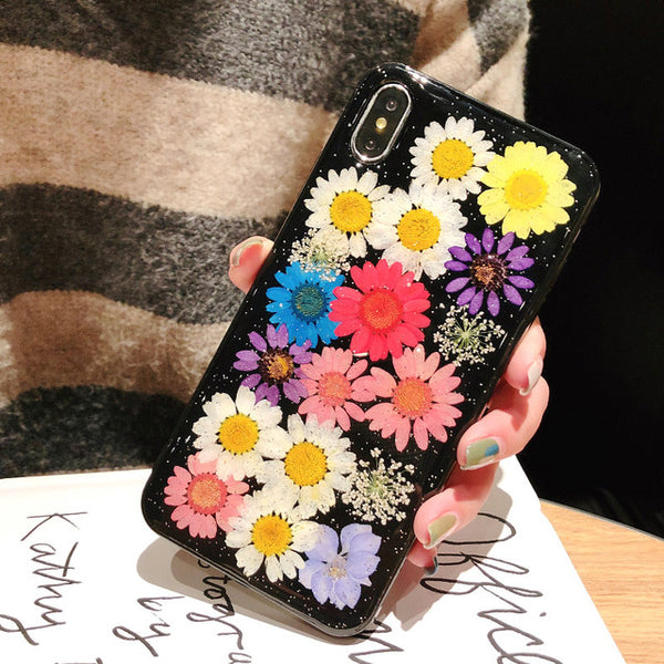 Handmade Real Dried Flower Transparent iPhone Case