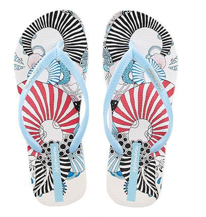 Women's Flip Flops Floral Pattern Sandals Colorful Summer Slippers