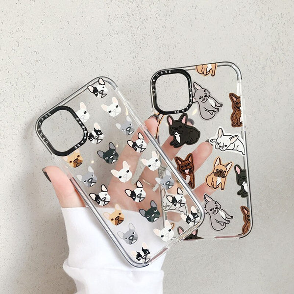 Transparent iPhone Case Cute Dog Cartoon Phone Cover