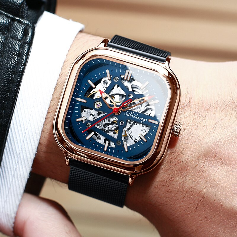 2020 New Automatic Mechanical Watch Men's Square Watches