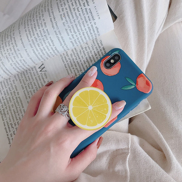 Summer Fruit Cute Cartoon Stand Holder iPhone Case