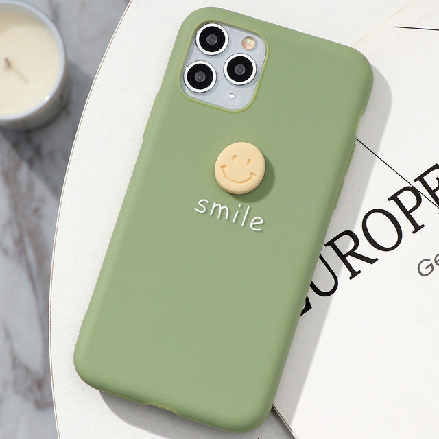 3D Cute Smile iPhone Cases Matte Phone Cover