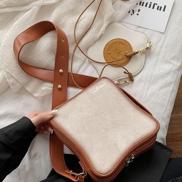 Fun Toast Design Leather Fashion Purses Girl Crossbody Shoulder Bag