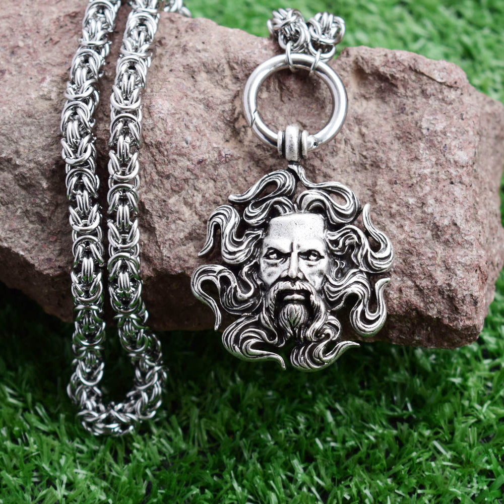 Amulet Talisman Necklace Norse Warrior Pendant