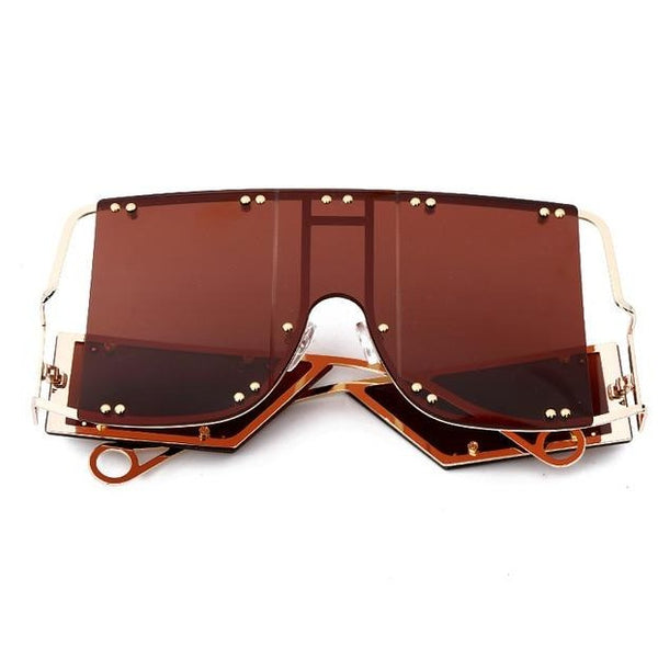 Fashion Brand Retro Oversized Square Sunglasses