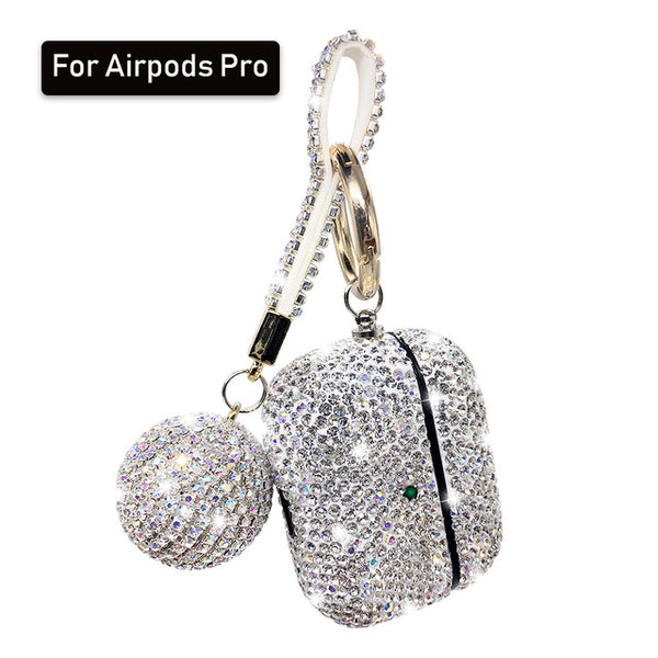 Luxury Diamond Apple Airpods Case Shiny Key Chain