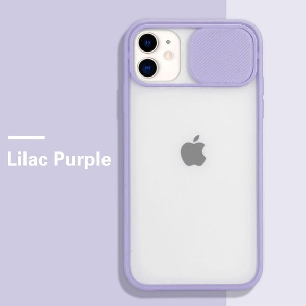 Camera Lens Protection Candy Color iPhone Case