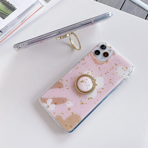 Cute Flower iPhone Case With Ring Holder For iPhone 11 Pro Max