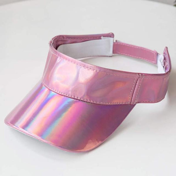 Hologram Shiny Sun Visor Cap Hip-Hop Dancing Sportswear Golf Tennis Ajdustable Hat