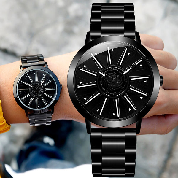 Fashion Men Car Wheel Rotating Dial Man Watch Relogio Masculino