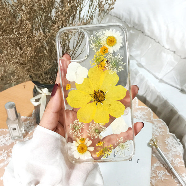 Real Dried Flower Phone Case for iPhone