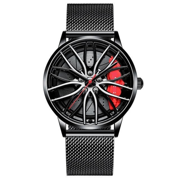 Men Creative Sports Car Wheel Design Watches Automobile Tire Wrist Watch