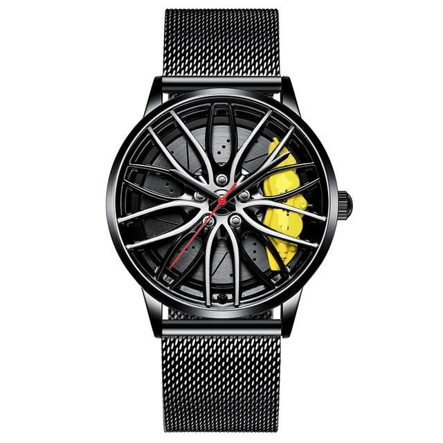 Men Creative Sports Car Wheel Design Watches Automobile Tire car wheel watch