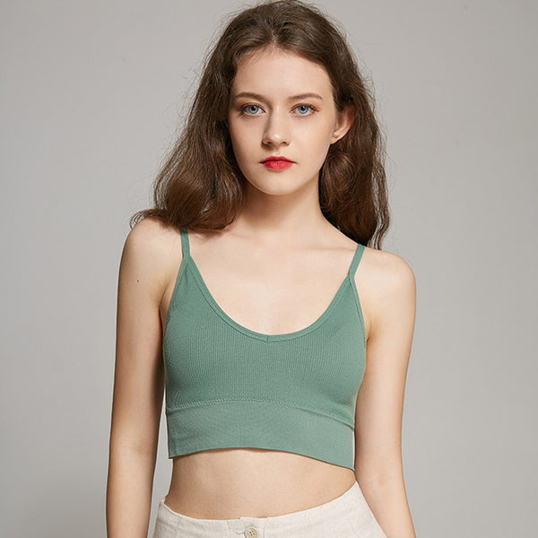 Tank Crop Tops Solid Color Sleeveless Camis