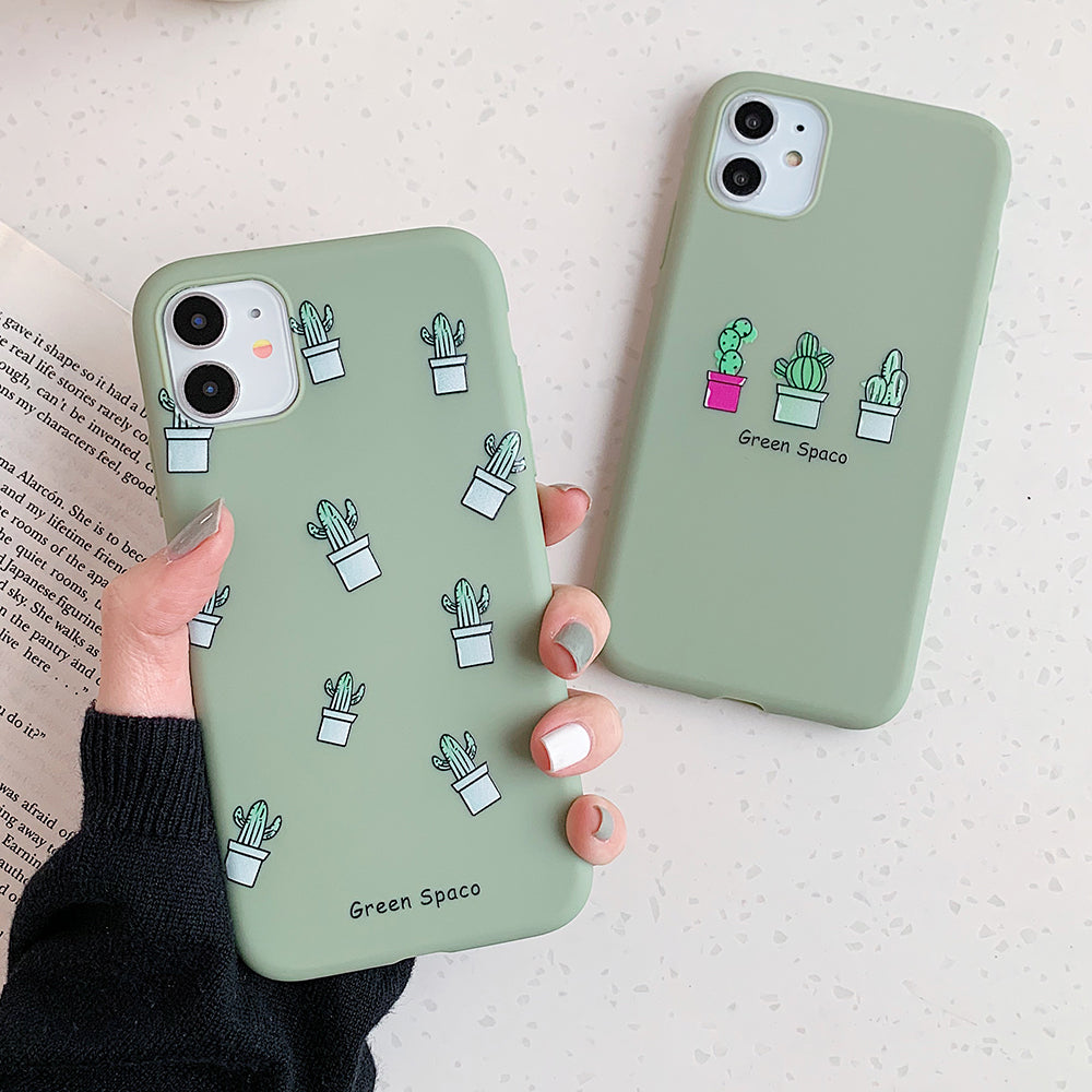 Plant Phone Case Cute Green Cactus iPhone Cases