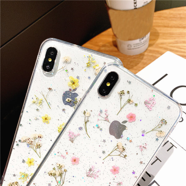 Pressed Flower Phone Case Real Dried Floral iPhone Cases