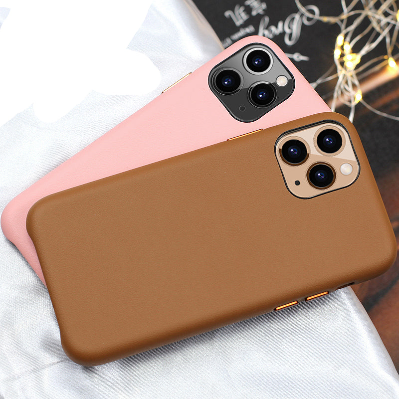 Leather Case for iPhone Genuine Leather Phone Back Cover