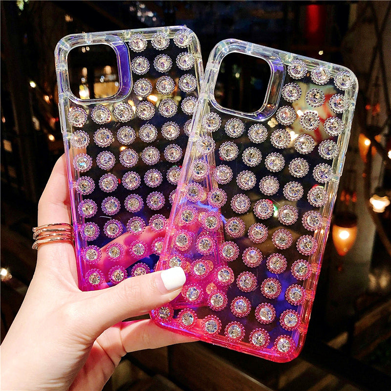 Glitter Bling Transparent Phone Case 3D Diamond iPhone Cover